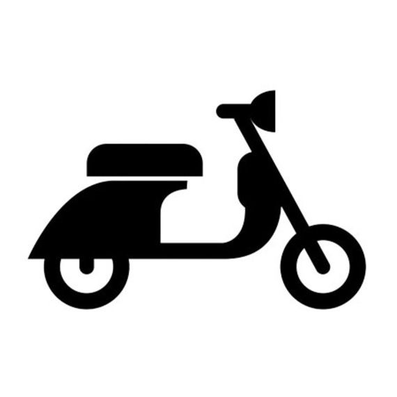 Scooter image to use for a stamp or stencil