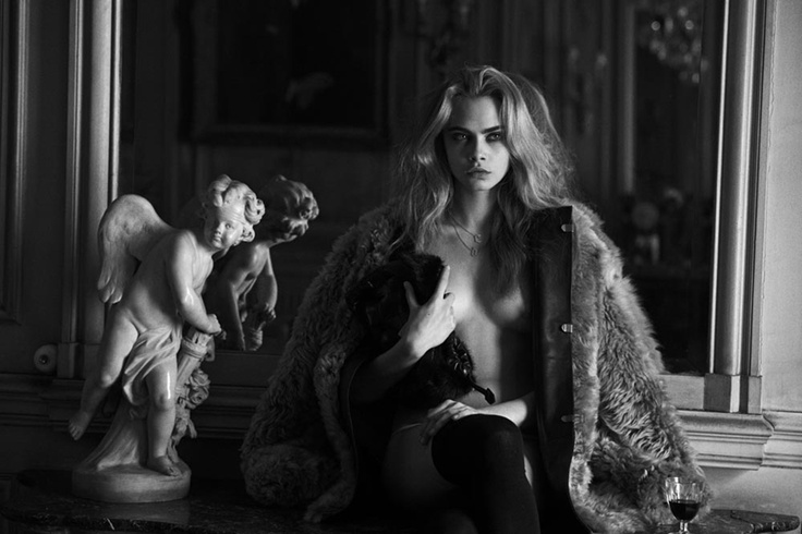 EDITORIAL Interview Magazine April 2013 Feat. Cara Delevingne by Peter Lindbergh
