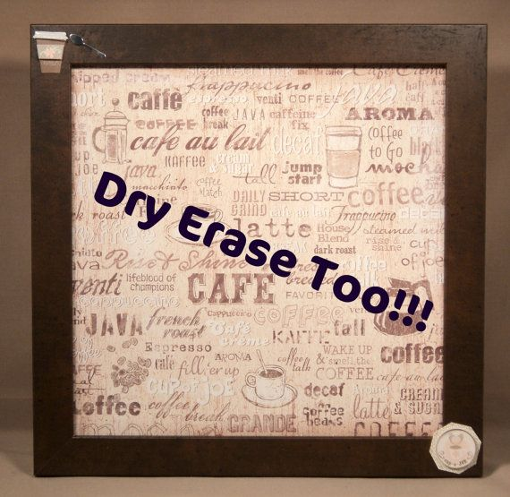 Magnetic and Dry Erase Memo Board  Coffee Theme  by magnamemos, $38.00