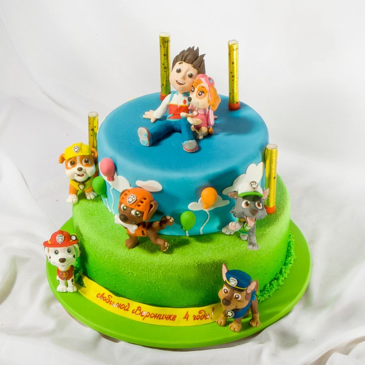 Детский торт на день рождения Щенячий патруль.