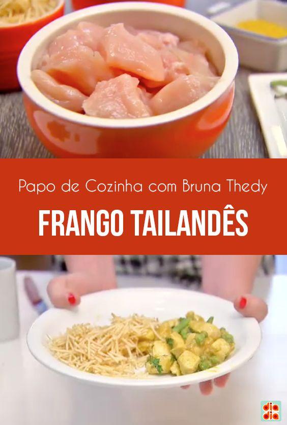 No Papo de Cozinha, Marina Mantega conversou com Bruna Thedy. A atriz preparou um frango tailandês muito gostoso!