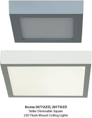 access 20772led 20773led strike dimmable square led flushmount ceiling light led ceiling