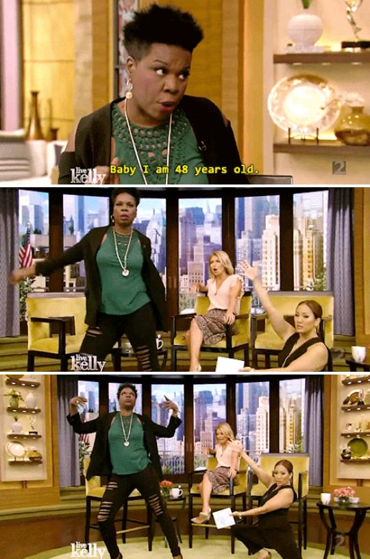 Oh, and when she couldn't give less of a shit what people had to say about her age. | 19 Times Leslie Jones Proved She's A Gift To Humanity