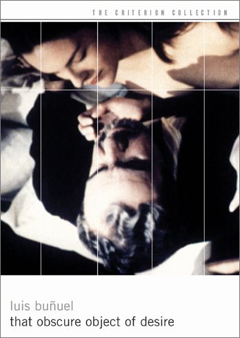 That Obscure Object of Desire (1977), Luis Buñuel. Buñuel's final film explodes with eroticism, bringing full circle the director's lifelong preoccupation with the darker side of desire. Buñuel regular Fernando Rey plays Mathieu, an urbane widower, tortured by his lust for the elusive Conchita. Buñuel uses two different actresses in the lead—Carole Bouquet, a sophisticated French beauty, and Angela Molina, a Spanish coquette. Drawn from Pierre Louÿs's 1898 novel, La Femme et le Pantin.