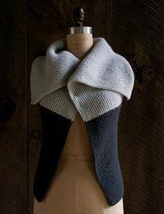 Sideways Garter Vest | AllFreeKnitting.com