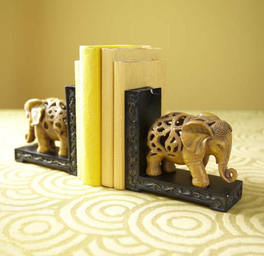 Pier 1 Elephant Bookends Add Big Personality Wherever They Go