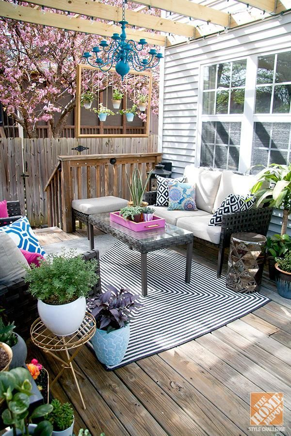 patio decorating ideas turning a deck into an outdoor living room - Outdoor Home Decor Ideas