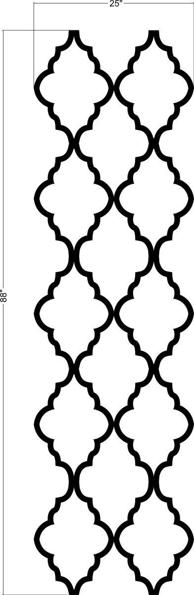 Wall Decal Moroccan Geometric Abstract Pattern by WallStarGraphics
