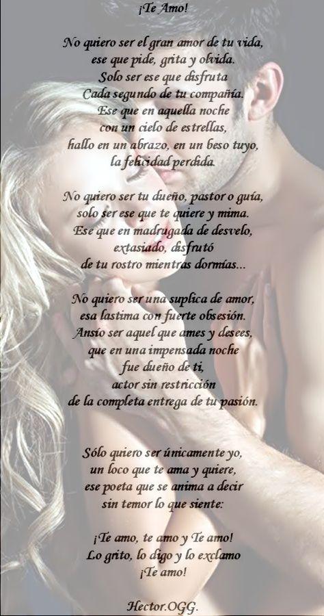 te amo mi amor poemas | Poemas - Te Amo Porque Te Amo - ¡Te Amo! - Solo Mia.... Mi… - Solo ...
