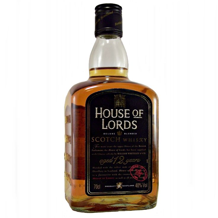 House of Lords 12 year old Blended Scotch Whisky 1990s William Whiteley available to buy online at specialist whisky shop whiskys,co.uk Stamford Bridge York