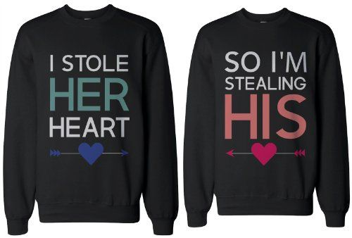 Wedding sweatshirts! I could totally see you two wearing these @Kristin Plucker Klinger!