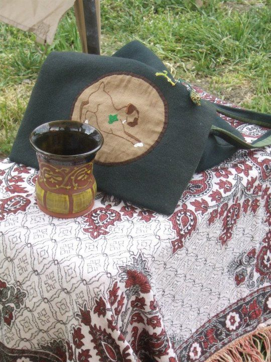 Still Life with cup, one of the alternate color combinations to a middle eastern motif. http://www.reannagteine.com/Products/Turquoise.html