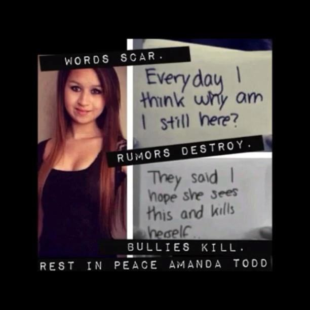Want a place where you won't get judged for being you? In memory of Amanda Todd
