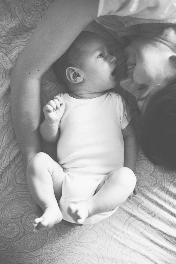 Matte black and white mum and baby