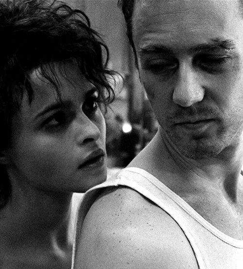 Marla and Tyler Durden (Helena Bonham Carter and Edward Norton) Fight Club