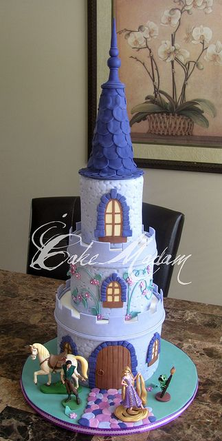 I have another Rapunzel cake to make. This is beautiful. I could only hope to make something this lovely.