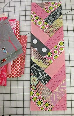 "Braid block is about 5.5"" x 17"".  No pattern... just strips 2"" wide.... and varying from 5-6"" long.."