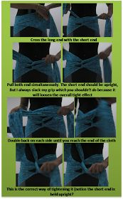traditional postpartum belly wrapping - good for helping separated abdominal muscles come back together