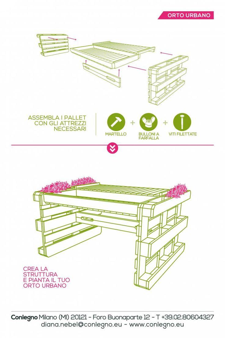 """Arredare spazi urbani con i pallet. Come riutilizzare i pallet per creare un """"orto urbano"""", per realizzare un comodo """"divano e un tavolo per esterni"""" #arredoperesterni #pallet #divano #orto #tavolo"""
