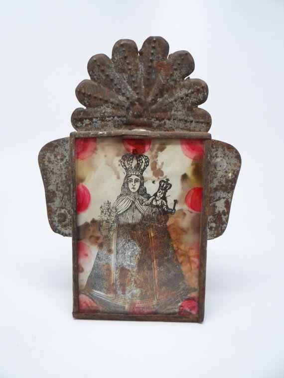 Antique Ex Voto La Virgen de San Juan de los Lagos by exploremag