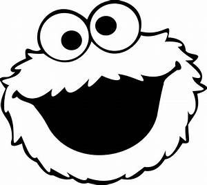 free cookie monster face coloring pages