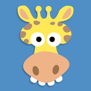 giraffe crafts for kids | Giraffe Masks For Kids