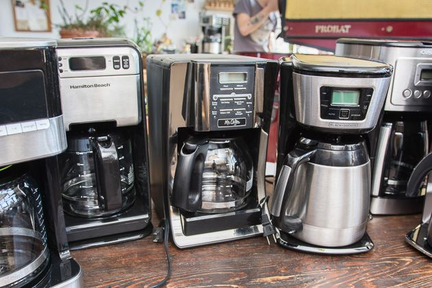 The Best Cheap Coffee Maker | After considering 17 cheap coffee makers and testing the six most promising candidates, we think that the Hamilton Beach 12-Cup Coffee Maker (46201) is the best. For about the price of three bags of specialty coffee beans, you get a machine that reliably makes a solid cup of coffee—even if you're brewing pre-ground stuff from the grocery store.