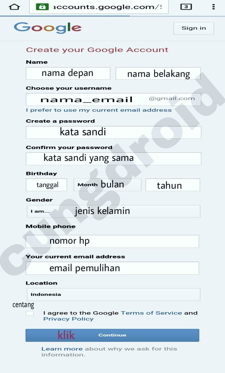 Update: Sign Up Email Gmail Melalui Hp Kekinian | CungDroid