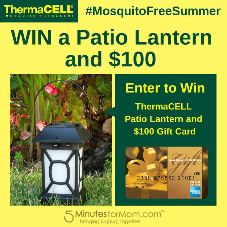 Win A ThermaCELL Patio Lantern U0026 $100 Gift Card #MosquitoFreeSummer  #Giveaway