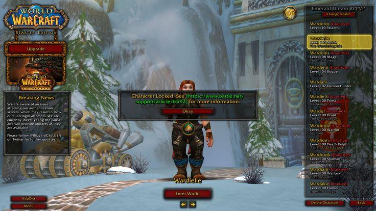 Strange bug regarding the server maintenance: Account reverted to starter edition #worldofwarcraft #blizzard #Hearthstone #wow #Warcraft #BlizzardCS #gaming