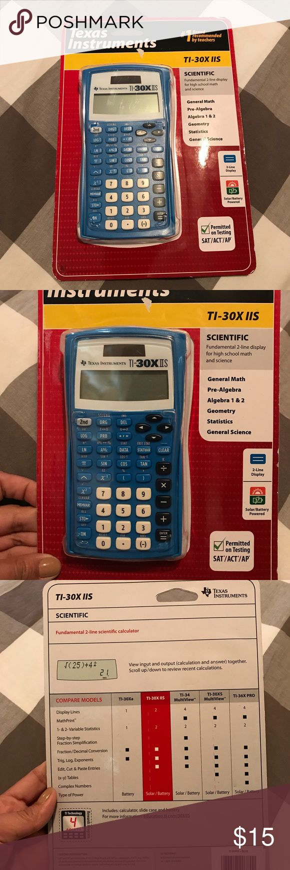 Texas Instruments Calculator Brand New Texas Instruments . #1 Brand recommended by teachers. Color is blue. Great for General Math, Pre-Algebra and Algebra 1&2, Geometry, statistic and General science.. solar/battery powered. Texas Instruments Other