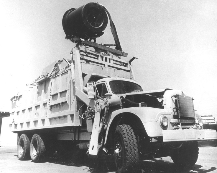 Godzilla, first automated garbage truck by Heil