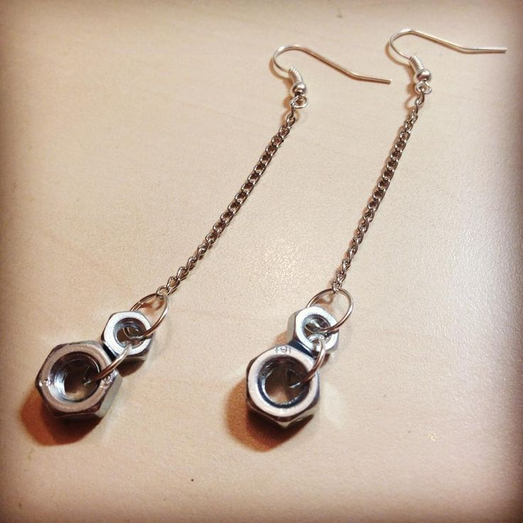 #earrings #techcollection #industrialjewelry #nut