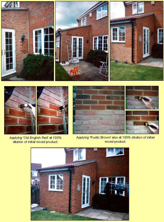 DIY brick stain kit   http://www.dyebrick.com/projects/extensions.html