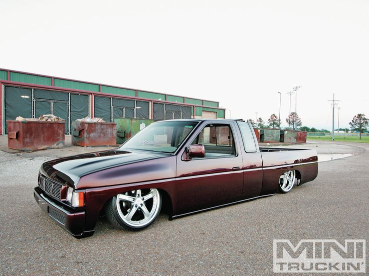 1996 Nissan Hardbody.  My Friend, Bert Miller had one just like this when we were in High School, only in Black, but slammed.  Very cool truck.
