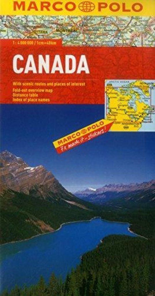 Buy map Canada by Marco Polo Travel