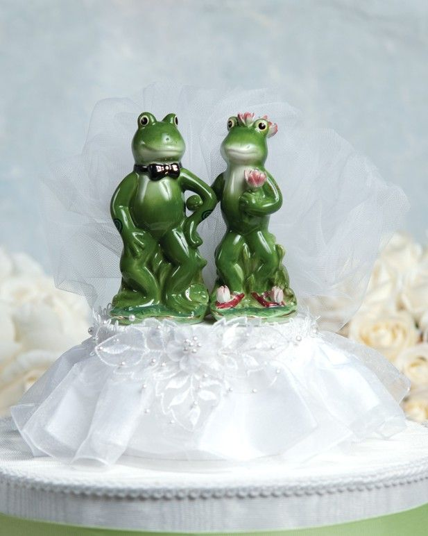 Funny Frog Prince Cake Topper 101406 by weddingcollectibles