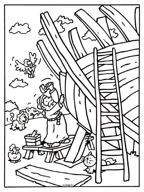 Kleurplaat Noach - bijbelse figuren - Kleurplaten.nl