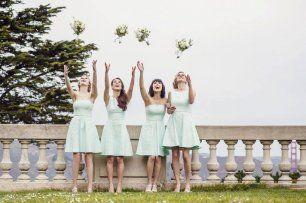 Подружки невесты в коктейльных платьях