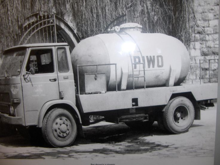 Beer truck in Polish People's Republic. (PRL)