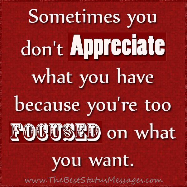 Appreciate Life Quotes: Appreciate What You Have