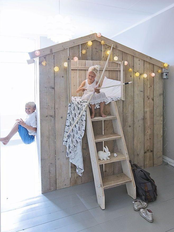 Lekende lett - VG+. Fotograf Jorunn Tharaldsen har innredet barnerommene tilrettelagt for lek og rollespill. Her får barna virkelig utfoldet seg. Foto: JORUNN THARALDSEN