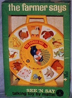 Childhood Memory Keeper: Retro Pop Culture from the 1960s, 1970s and 1980s: See 'n Say Toy