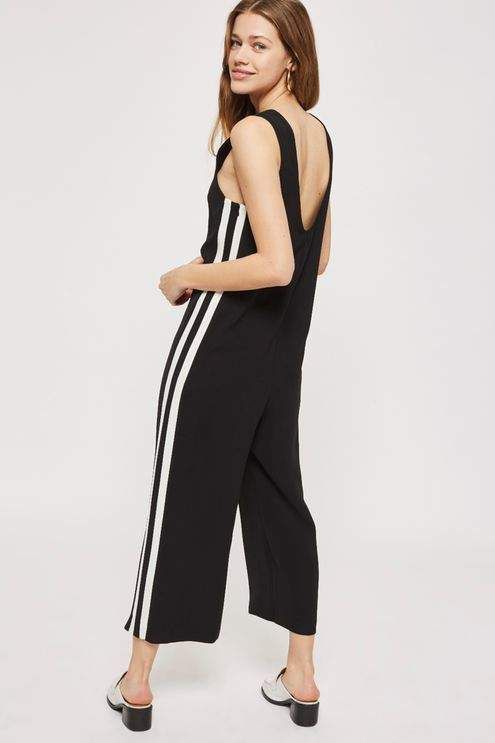 2d86473ed172 Topshop Side stripe jumpsuit