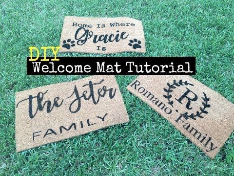 DIY Personalized Doormats With Cricut Maker - YouTube
