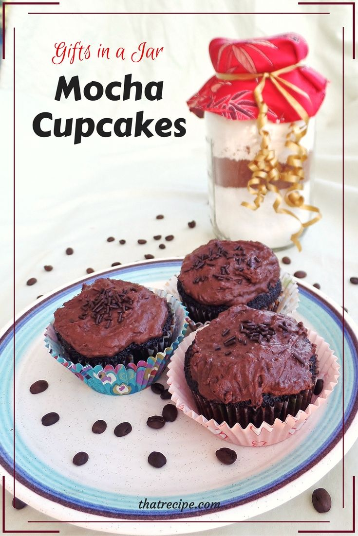 Gift wrapping ideas for home made baked goods - Gifts In A Jar Mocha Cupcakes Homemade Chocolate Cake Mix Recipe Made With Coffee