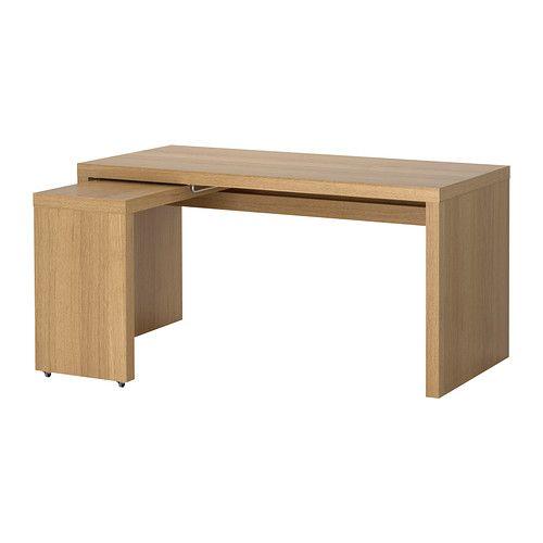MALM Skrivbord med utdragsskiva - ekfaner  - IKEA