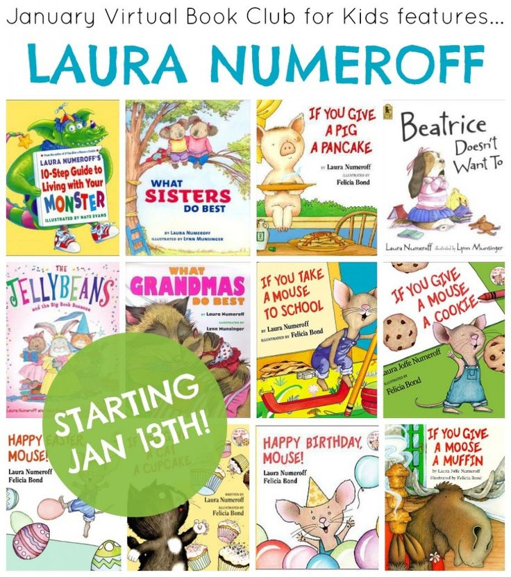 Come join the Virtual Book Club for Kids as we spotlight books by Laura Numeroff this month! You can join in too. Click on the post to find out how. #vbcforkids