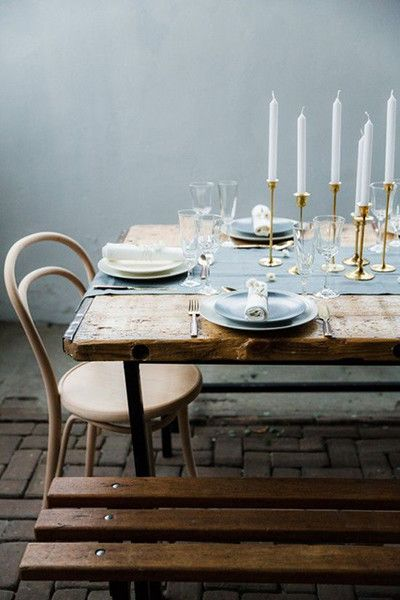 Muted Blue - Thanksgiving Day Tables That Are #Goals - Photos