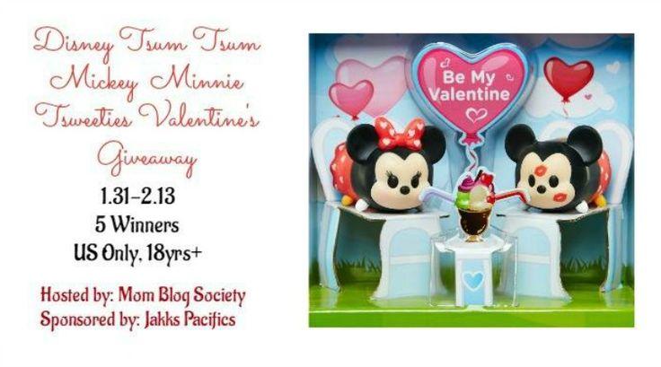 Disney Tsum Tsum Valentine's Giveaway Ends 2/13 via @BeckyRyanWillis